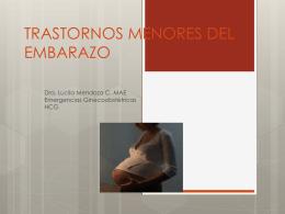 TRASTORNOS MENORES DEL EMBARAZO