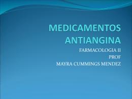 MEDICAMENTOS ANTIANGINA
