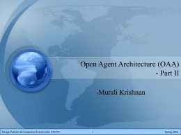 Open Agent Architecture (OAA)