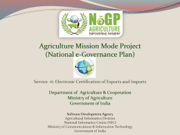 NeGP-A Electronic Certification for Export & Import
