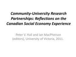 Community-University Research Partnerships: Reflections …