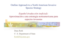 Outline Approach to a North American Invasive Species …