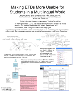 Making ETDs More Usable for Students in a Multilingual …