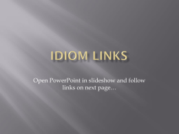 Idiom Links