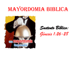 MATORDOMIA BIBLICA