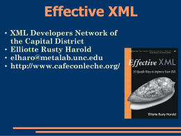 Effective XML - Cafe con Leche