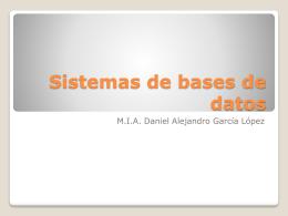 Sistemas de bases de datos