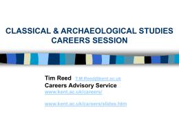 Choosing a Career - University of Kent