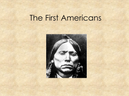 The First Americans