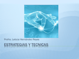 ESTRATEGIAS Y TECNICAS