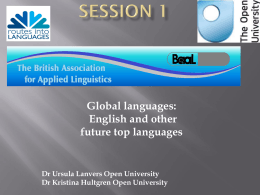 Session 2 Multilinguality and multilingualism
