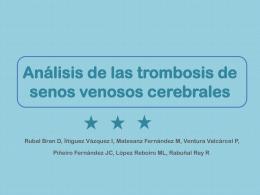 TROMBOSIS DE SENOS VENOSOS CEREBRALES