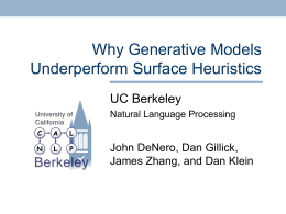 Why Generative Models Underperform Surface Heuristics