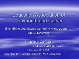 Education Association of Plymouth and Carver