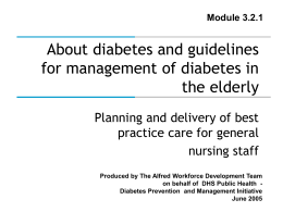 Guidelines for management and care of diabetes in the …