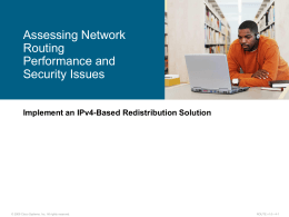 Assessing Network Routing Performance and Security …
