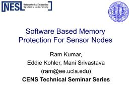 Software Based Memory Protection For Sensor Nodes