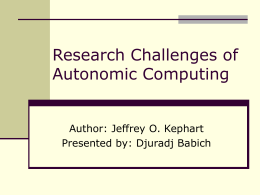 Research Challenges of Autonomic Computing