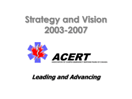 Strategy and Vision 2003-2007