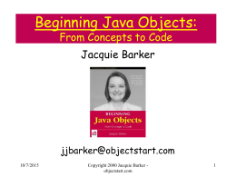 Beginning Java Objects: From Concepts to Code