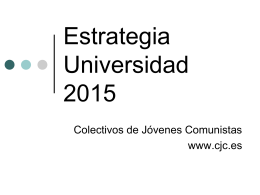 Estrategia Universidad 2015