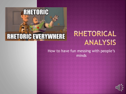 Rhetorical Analysis - English 105