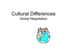 Cultural Differences Global Negotiation