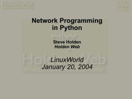Network Programming in Python
