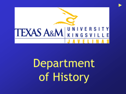 Javelina History Department