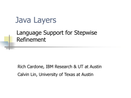 Java Layers - University of Texas at Austin