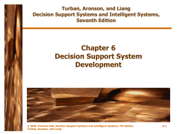 Chapter 6 Decision Support System Development