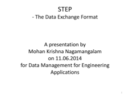 STEP - The Data Exchange Format