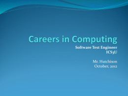 Careers in Computing - Toronto District School Board