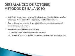 DESBALANCEO DE ROTORES METODOS DE BALANCEO