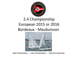 2.4 Championship European 2015 or 2016 Bordeaux