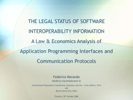 SOFTWARE INTEROPERABILITY: ISSUES AT THE …
