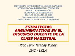 ESTRATEGIAS COMUNICATIVAS EN EL AULA UNIVERSITARIA