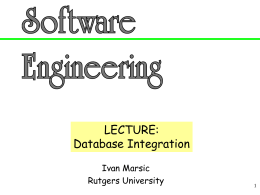 Software Engineering Lecture Slides