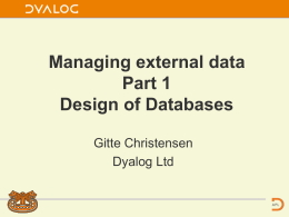 Managing external data Part 1 - 3