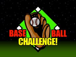 Baseball Challenge Miscellaneous Lang. Arts grade 8