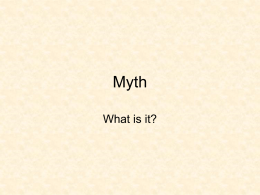What is myth? - University at Albany - SUNY
