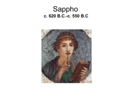 Sappho and the lyric mode - The University of West …
