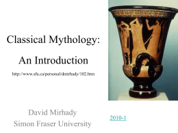 PowerPoint Presentation - Classical Mythology An …