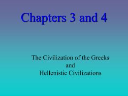 Chapter 4 The Civilization of the Greeks