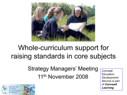 Whole-curriculum support for raising standards in core