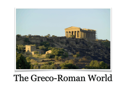 The Greco-Roman World