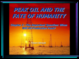 WELCOME TO THE POWERPOINT BOOK: PEAK OIL