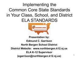 Digging Deeper to Understand Implications of Standards
