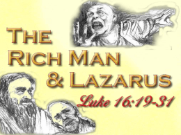 The Rich Man & Lazarus - Home Page | West 65th Street