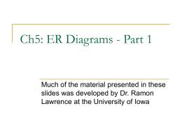 Ch4 – ER Diagrams